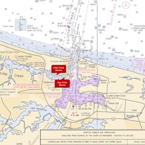 little creek marina nautical map closeup