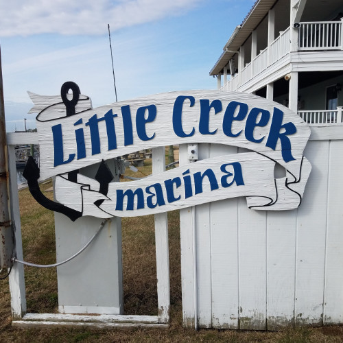 little creek marina sign